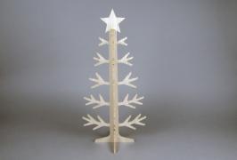 X778DQ Sapin en bois naturel H60cm