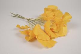 x778jp Ginkgo artificiel jaune H42cm