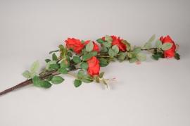x794mi Branche de rose artificielle rouge H150cm