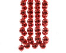 X808KI Guirlande de perles rouge 20mm x 270cm
