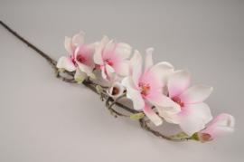 x818mi Magnolia artificiel rose pâle H93cm