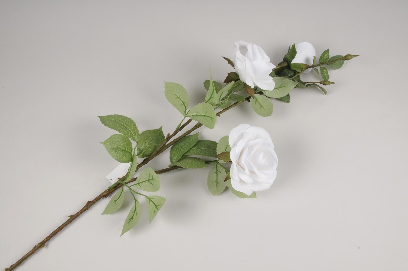 x825mi Rose artificielle blanche H103cm
