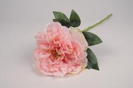 x833mi Pivoine artificielle rose pale H58cm