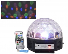X843KI Magic LED ball with multi-fonction remote indoor