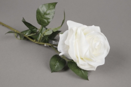 x937nn Artificial white Dijon rose H64cm