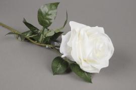 x937nn Artificial white Dijon rose H64cm
