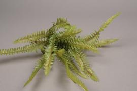x938nn Piquet de fougère artificiel vert H41cm