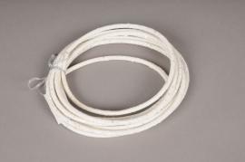 xx03di Cordon décoratif pailletté blanc D5mm L450cm