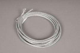 xx05di Decorative cord with glitter silver D5mm L450cm