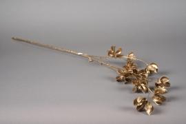 xx18ee Branche de coton artificielle or H80cm