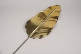xx37ee Feuille de bananier artificielle dorée H107cm