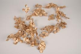 xx39ee Golden artificial eucalyptus garland L180cm