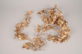 xx40ee Guirlande de ginkgo artificiel doré L180cm