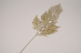 xx74di Branche de fougère artificielle doré H78cm