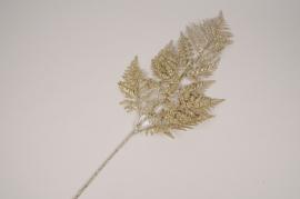 xx74di Golden artificial fern branch H78cm