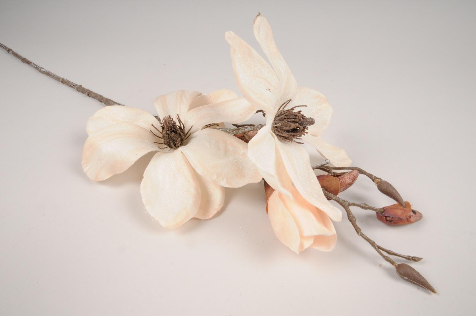 xx88di Magnolia artificiel givré crème H85cm