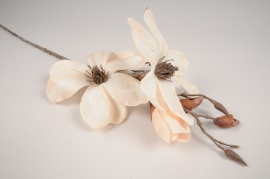 xx88di White artificial frosted magnolia branch H85cm