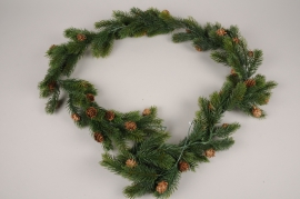 xx89di Green artificial fir tree garland L180cm
