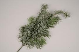 xx91di Branche de sapin artificiel givré H63cm