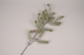 xx92di  Branche de sapin artificiel enneigé H88cm
