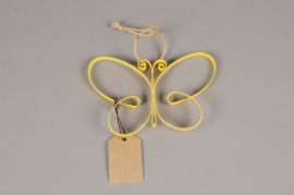 A009AK Yellow metal butterfly H11cm