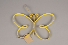 A012AK Yellow metal butterfly H20cm