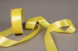 A039UN Yellow satin ribbon 40mm x 25m