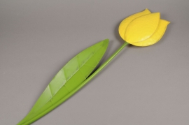 A005AK yellow tulip in metal D11cm H57cm