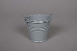 A256KM Zinc bucket grey D6 H5,5cm