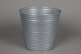 A016L0 Zinc pot silver D21 cm H20cm