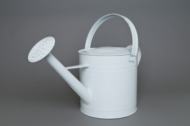 Zinc watering can white 10L